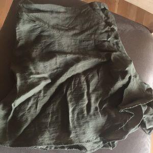 flowy olive shorts UO